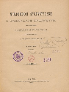 Wiadomości Statystyczne o Stosunkach Krajowych T. 20, z. 1