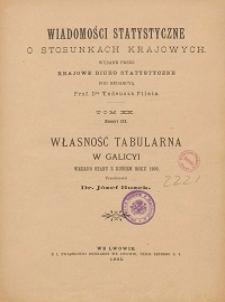 Wiadomości Statystyczne o Stosunkach Krajowych T. 20, z. 3