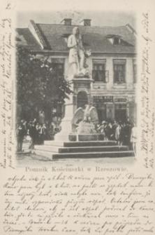 Pomnik Kościuszki w Rzeszowie [Pocztówka]
