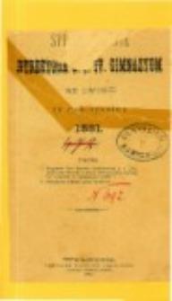 Sprawozdanie Dyrektora C. K. IV Gimnazyum we Lwowie za rok szkolny 1881