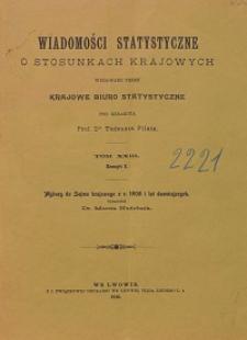 Wiadomości Statystyczne o Stosunkach Krajowych T. 23, z. 1