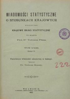 Wiadomości Statystyczne o Stosunkach Krajowych T. 23, z. 2