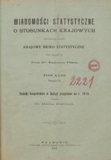 Wiadomości Statystyczne o Stosunkach Krajowych T. 23, z. 3