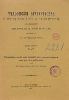 Wiadomości Statystyczne o Stosunkach Krajowych T. 24, z. 1