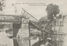 Rzeszów r. 1914-1915. Most kolejowy nad Wisłokiem = Eisenbahnbrücke über die Wisłoka [Pocztówka]