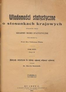 Wiadomości Statystyczne o Stosunkach Krajowych T. 24, z. 3