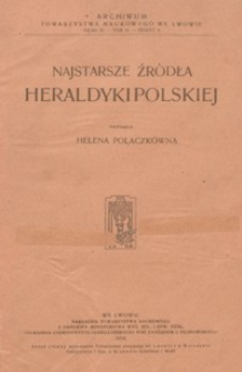 Najstarsze źródła heraldyki polskiej