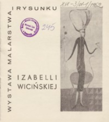 Wystawa malarstwa i rysunku Izabelli Wicińskiej [katalog]