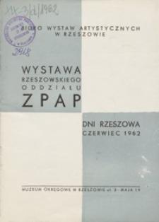 Wystawa Rzeszowskiego Oddziału Związku Polskich Artystów Plastyków [katalog]