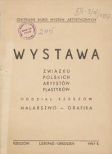 Wystawa Związku Polskich Artystów Plastyków Oddział Rzeszów [katalog]