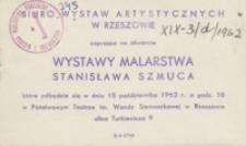 Wystawa malarstwa Stanisława Szmuca [zaproszenie]
