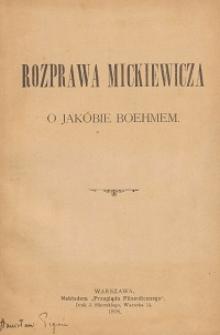 Rozprawa Mickiewicza o Jakóbie Boehmem