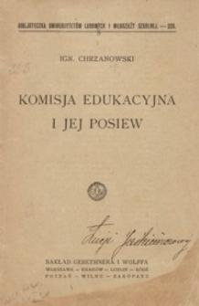 Komisja Edukacyjna i jej posiew