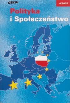 Polityka i Społeczeństwo nr 4 (2007)