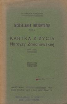 Kartka z życia Narcyzy Żmichowskiej