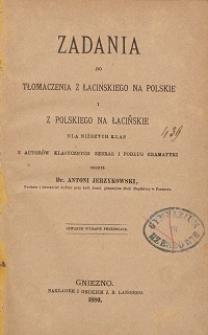 Zadania do tłomaczenia z łacińskiego na polskie i z polskiego na łacińskie dla niższych klas