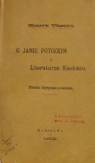 O Janie Potockim i literaturze Kaukazu : notatka krytyczno-polityczna