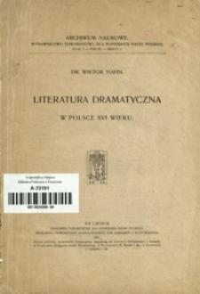 Literatura dramatyczna w Polsce XVI wieku