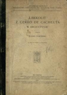 Lakkolit z Cerro de Cacheuta w Argentynie