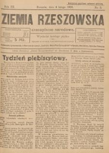 Ziemia Rzeszowska : czasopismo narodowe. 1921, R. 3, nr 5 - 52