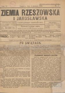 Ziemia Rzeszowska i Jarosławska : czasopismo narodowe. 1924, R. 6, nr 1 - 10