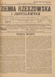 Ziemia Rzeszowska i Jarosławska : czasopismo narodowe. 1924, R. 6, nr 11 - 20