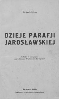 Dzieje parafji jarosławskiej