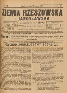 Ziemia Rzeszowska i Jarosławska : czasopismo narodowe. 1924, R. 6, nr 21 - 30