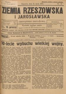 Ziemia Rzeszowska i Jarosławska : czasopismo narodowe. 1924, R. 6, nr 31 - 40