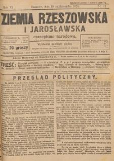 Ziemia Rzeszowska i Jarosławska : czasopismo narodowe. 1924, R. 6, nr 41 - 51