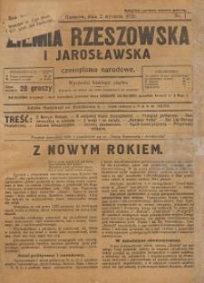 Ziemia Rzeszowska i Jarosławska : czasopismo narodowe. 1925, R. 7, nr 1 - 7, 9 - 10