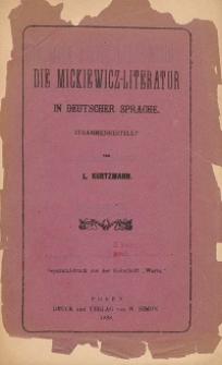 Mickiewicz Literatur in deutscher Sprache