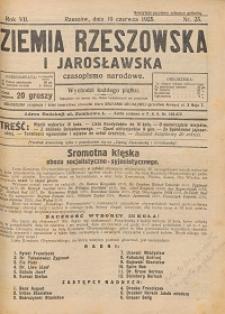 Ziemia Rzeszowska i Jarosławska : czasopismo narodowe. 1925, R. 7, nr 25 - 31, 33 -35, 37