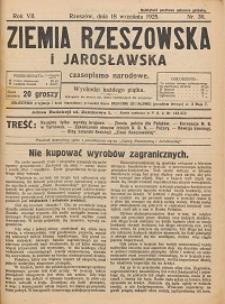 Ziemia Rzeszowska i Jarosławska : czasopismo narodowe. 1925, R. 7, nr 38 - 52