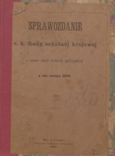 Sprawozdanie c. k. Rady szkolnej krajowej o stanie szkół średnich galicyjskich w roku szkolnym 1890/91