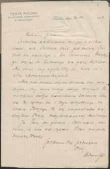 [List Arampila do Józefa Wiśniowskiego, 20.07.1917]