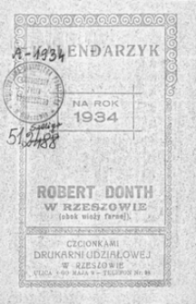 Kalendarzyk na rok 1934