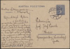 [Kartka pocztowa Rajmunda Bezgela do Józefa Wiśniowskiego, 11.10.1928]