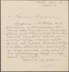 [List Tadeusza Błotnickiego do Józefa Wiśniowskiego, 26.12.1927]