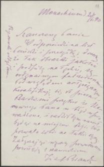 [List Józefa Brandta do Józefa Wiśniowskiego, 20.11.1910]