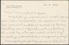 [List Romana Dyboskiego do Józefa Wiśniowskiego, 24.02.1938]