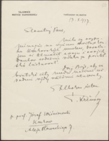 [List Stefana Kromerego do Józefa Wiśniowskiego, 17.10.1927]