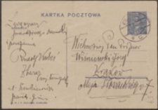 [Kartka pocztowa Rudolfa Kubesia do Józefa Wiśniowskiego, 13.11.1930]