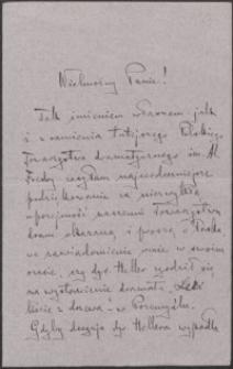 [List Edwarda Lorenza do Józefa Wiśniowskiego, 06.02.1913]