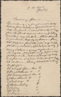 [List Elizy Orzeszkowej do Józefa Wiśniowskiego, 09.12.1905]