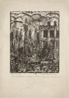 Ruiny Jasła III. Fragment Elektrowni Miejskiej zniszczonej przez okupanta. 1945