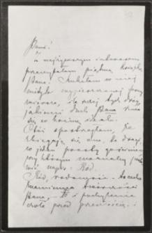 [List i kartka pocztowa Marii Konopnickiej do Józefa Wiśniowskiego, 22.09.1901]