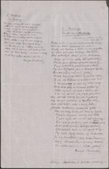 [Autografy dwóch wierszy tłumaczonych przez Henryka Sienkiewicza z Horacego z 1913 r.]