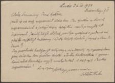 [Kartka pocztowa Wiktora Hahna do Józefa Wiśniowskiego, 26.04.1934]