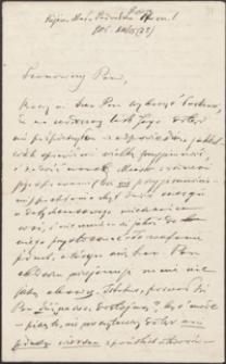 [List A[urelego] Drogoszewskiego do Józefa Wiśniowskiego, 15.12.1906]